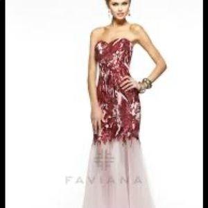 Faviana Sequin/Tull Prom dress